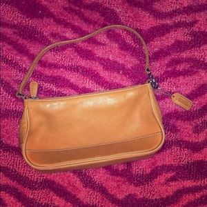 Small tan Coach shoulder bag